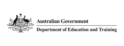 Australian Government: Department of Education and Training Logo